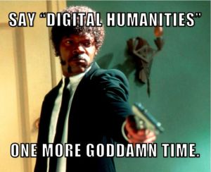 Thanks to Frank Ridgway for creating this in 2012 and to Ted Underwood for explaining this and to Glen Worthy who wrote the blog that featured the meme that brought all of this to light. More info here: https://digitalhumanities.stanford.edu/literary-texts-and-library-digital-age-or-how-library-dh-made#_ftn1